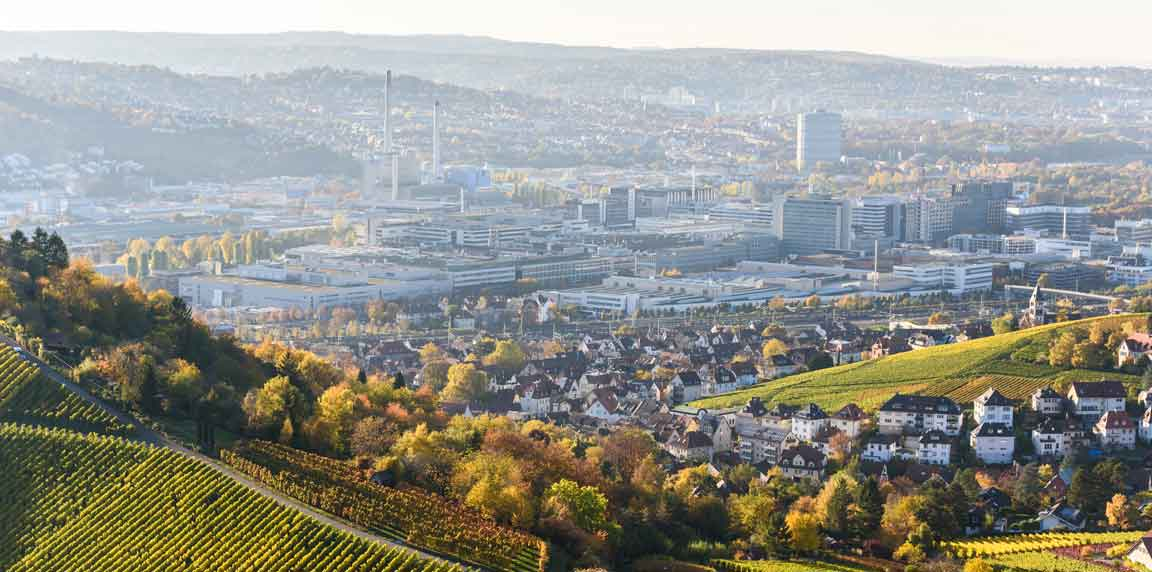 Stuttgart Weinberge und City